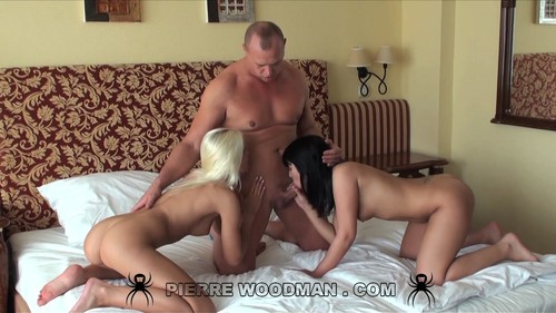 WoodmanCastingX.com -  Naomie and Dido Angel - hard - bed + 1 boy