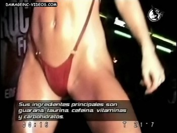 Jesica Cirio red thong model video