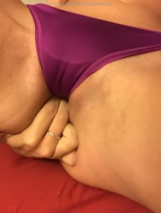 Violet dirty panties